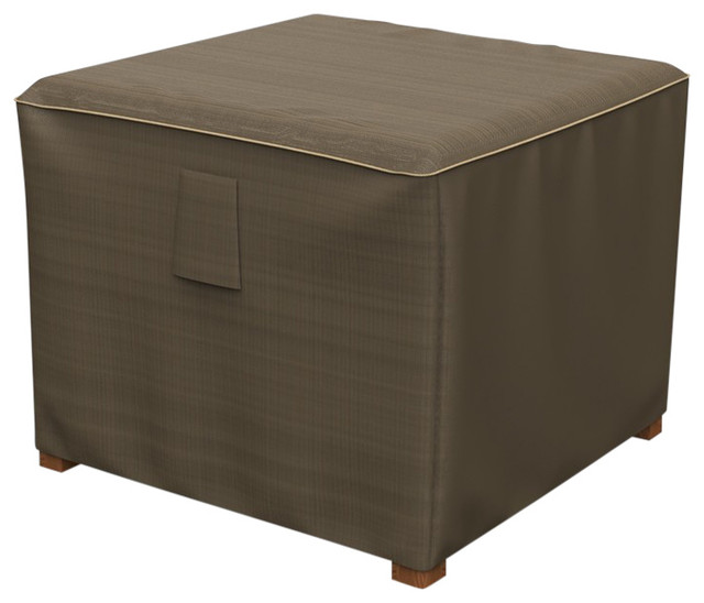 Budge Neverwet Hillside Square Patio Table Ottoman Cover Contemporary Outdoor Furniture Covers By Budge