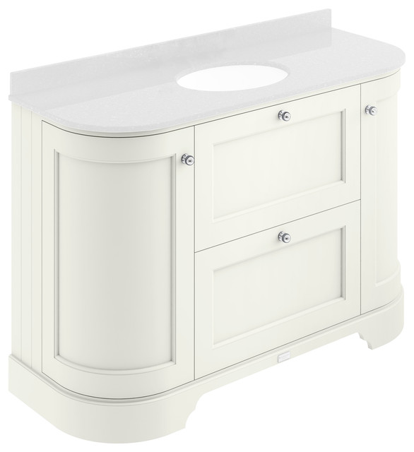 1200 mm 2-Drawer, 2-Door Basin Cabinet, Pointing White