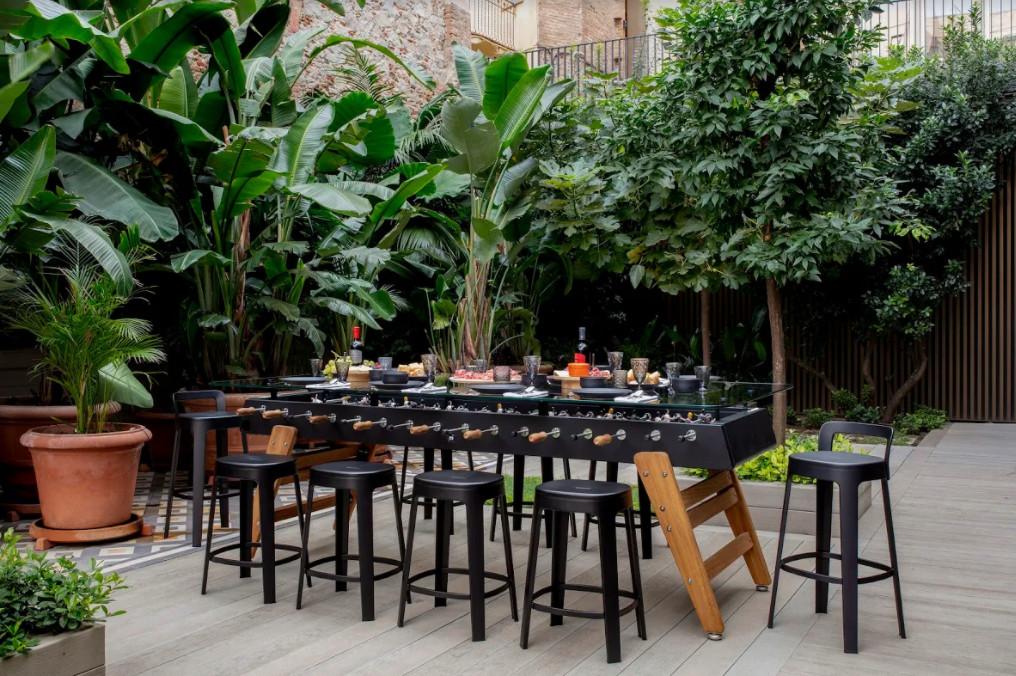 outdoor game room furniture; foosball; table