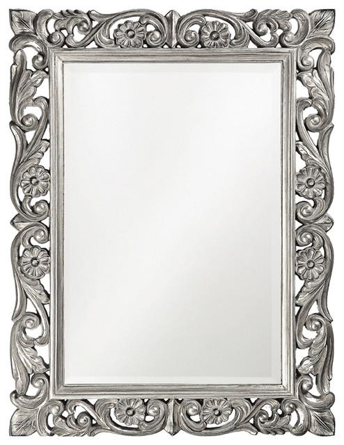 Howard Elliott Chateau Mirror, Nickel.