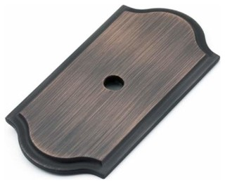 Richelieu Hardware Richelieu Classic Knob Backplate Oil Rubbed Bronze - Cabinet And Drawer Knobs ...