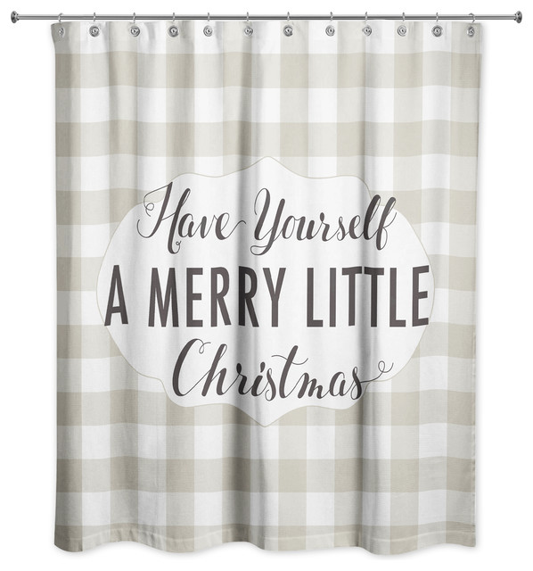 Christmas Shower Curtain.Have Yourself A Merry Little Christmas Shower Curtain 71 X74