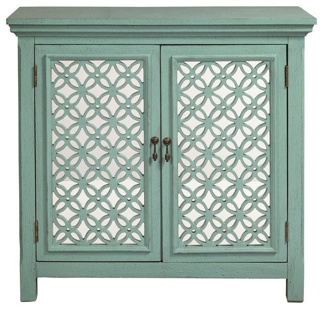 Two Door Green Accent Chest Transitional Chests And Cabinets By Homefare