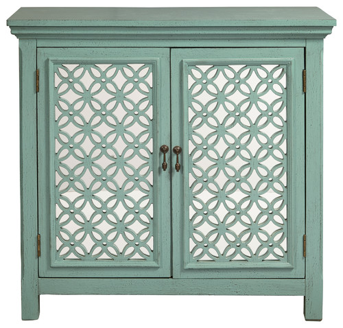 Two Door Green Accent Chest