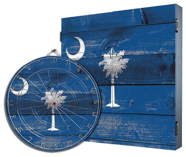South Carolina Dartboard Cabinet Combo - Rustic - Darts ...