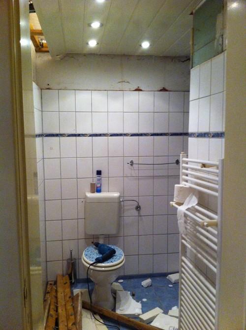 Badezimmer  Sanierung Vorher/ Nachher