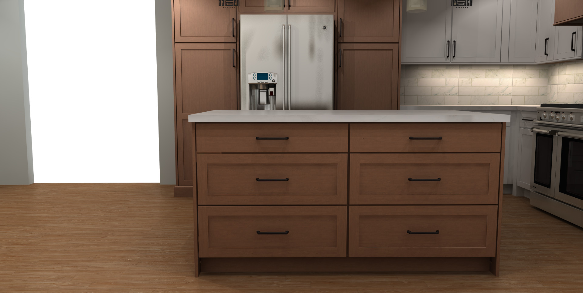 Concept Renderings of Kitchen Design for Baltimore Kitchen Remodel in the Homela
