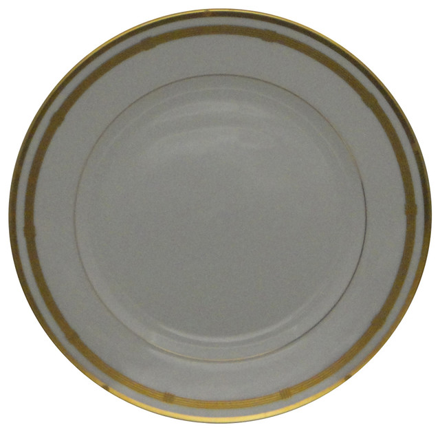 Christian Dior Gaudron-White Dinner Plate - Traditional - Dinner ...