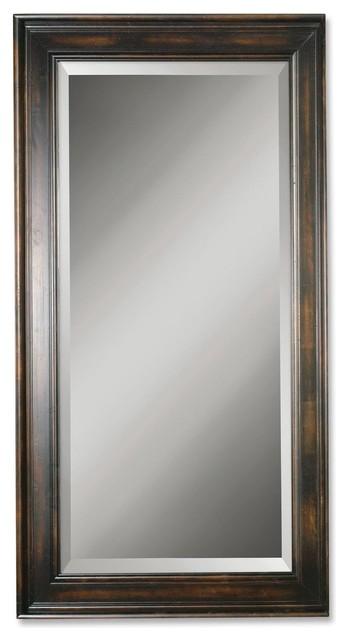 Uttermost Palmer Dark Wood Mirror.