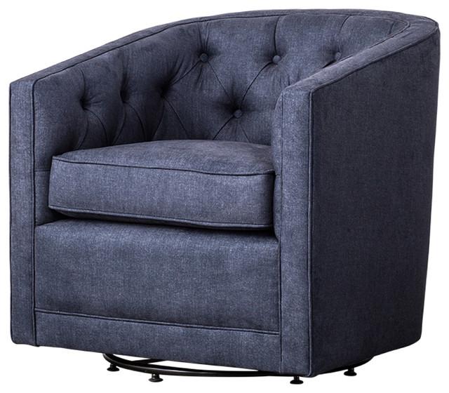 Magnificent Walsh Fabric Swivel Chair Denim Slate Blue Unemploymentrelief Wooden Chair Designs For Living Room Unemploymentrelieforg