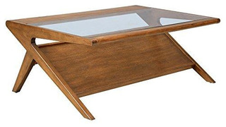 Mid Century Modern Retro Wood Coffee Occasional Table