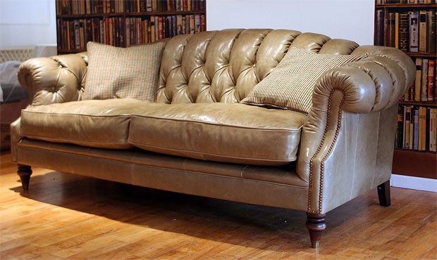 Longleat Leather Sofa