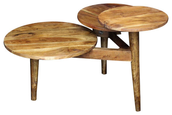 """Zen 3-Tiered Coffee Table 33""""x30""""x20""""."""