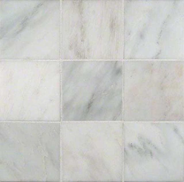 """Honed Tile, Arabescato Carrara, 10 Sq. Ft., 6""""x6""""."""