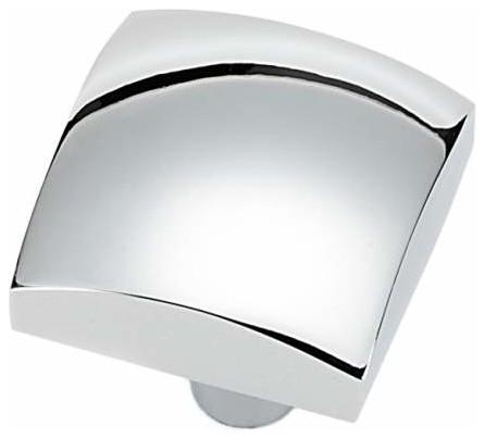 Alno Style Cents 1 1/4 Inch Square Cabinet Knob Polished Chrome, Polished  Chrome