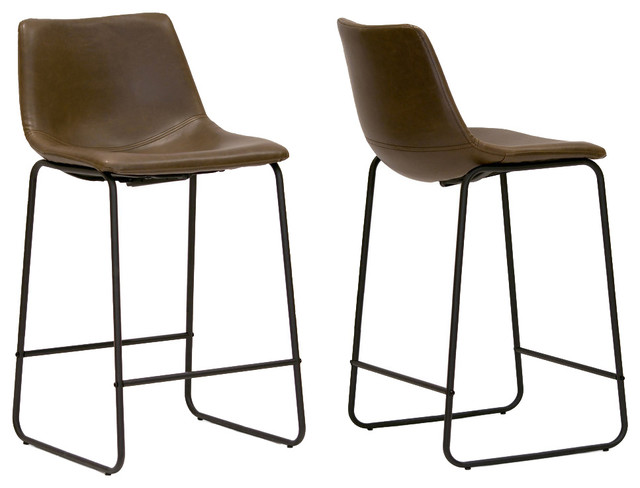ec6c87de8a01 Adan Iron and Leather Counter Stools