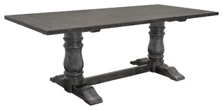 Rustic Smoked Gray Rectangular Dining Table   Traditional   Dining Tables    By Furniture Import U0026 Export Inc.