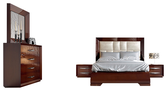 walnut platform bedroom set king contemporary bedroom furniture sets