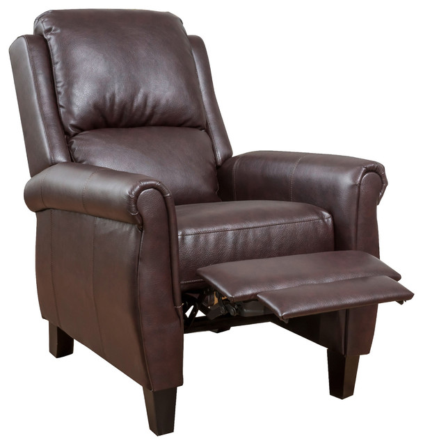Denise Austin Home Memphis Pu Leather Recliner Club Chair.