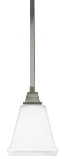 1-Light Mini-Pendant, Brushed Nickel.