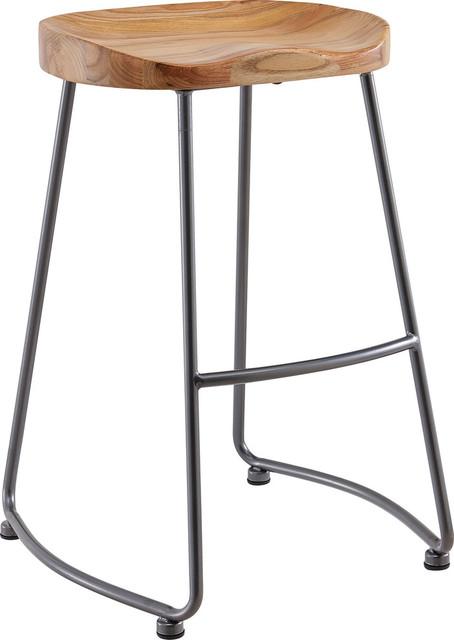 Excellent Moka 26 Counter Stools Set Of 2 Natural Evergreenethics Interior Chair Design Evergreenethicsorg