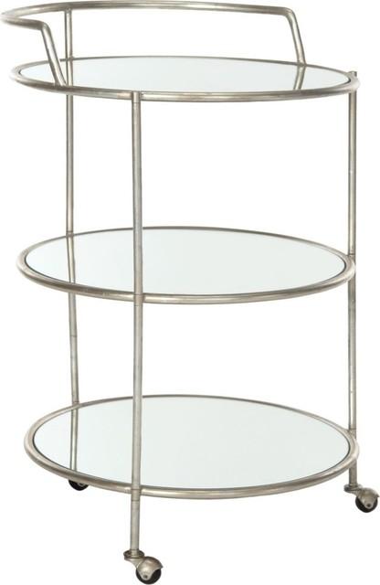 Safavieh Dulcinea Bar Cart, Silver, Mirror Top.