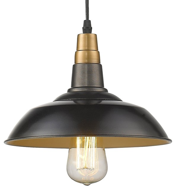 Black Industrial Light Part - 18: Poletta Pendant Light, Antique Black Industrial-kitchen-island-lighting