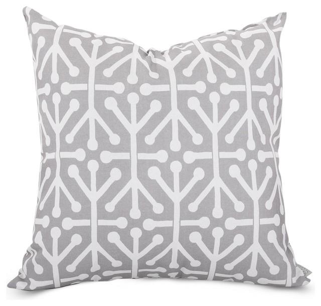 Majestic Home Goods Gray Aruba Extra Pillow 24x24 Outdoor Cushions An