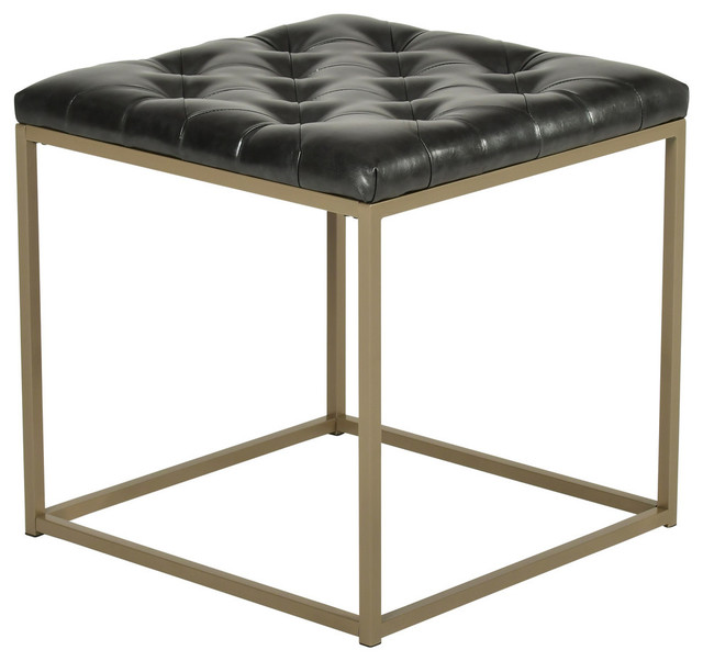 Awe Inspiring Steve Silver Glenda Faux Leather End Table Charcoal Gray Gmtry Best Dining Table And Chair Ideas Images Gmtryco