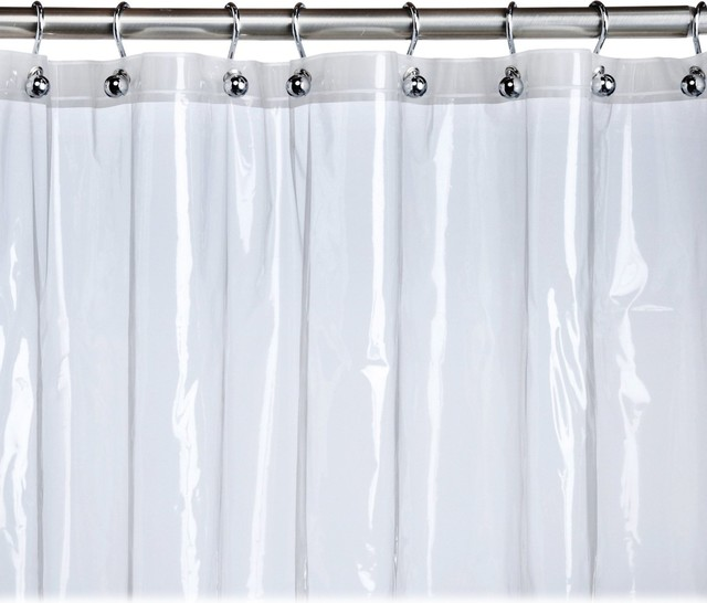 At Home With Meijer Clear Stall Shower Curtain Liner