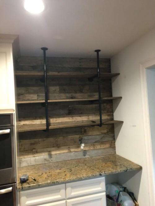 black steel pipe shelf