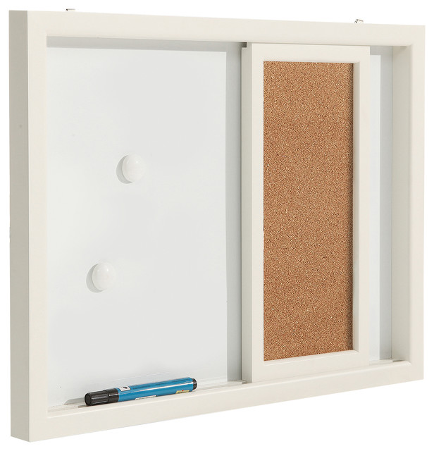 Wall Mounted Message Center Erasable Magnetic Whiteboard
