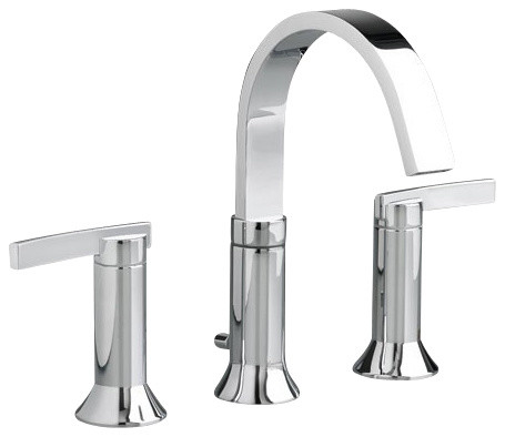 Berwick Widespread High Arc Bathroom Faucet In Polished Chrome Contemporary  Bathroom Sink