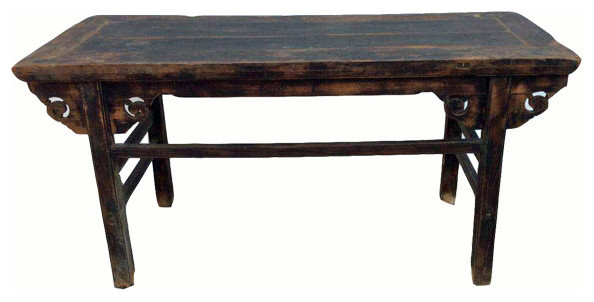 Consigned Antique Black Farm Table