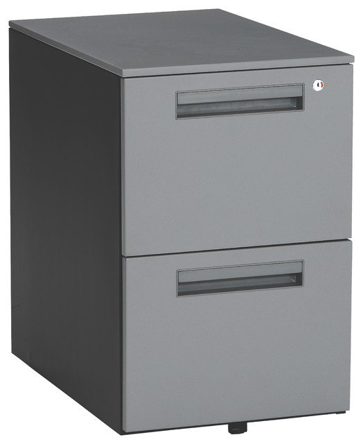 Mesa 2-Drawer File Cabinet - Contemporary - Filing Cabinets - by OFM