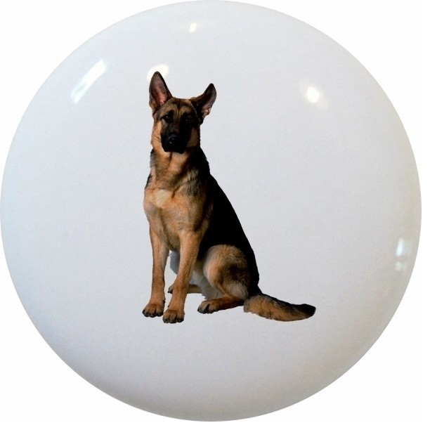 German Shepherd Dog Ceramic Knob - Contemporary - Cabinet And Drawer ...