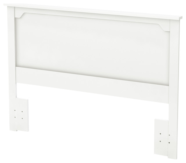 South Shore Fusion Full/queen Headboard, 54/60&x27;&x27;, Pure White.