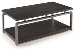 Magnussen Alton Metal Coffee Table, Platinum Charcoal and Gun Metal ...