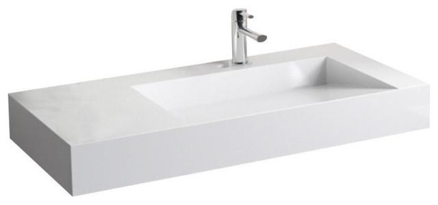 Badeloft Stone Resin Wall-mounted Sink