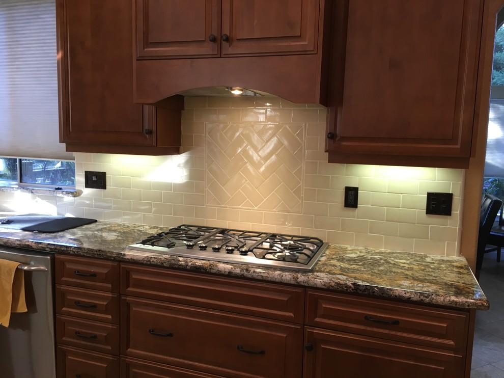 Updated Traditional Kitchen Backsplash- Lodi, CA