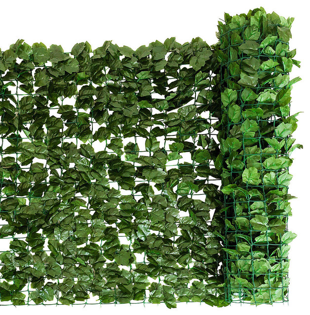 Costway 59 X118 Faux Ivy Leaf Decorative Privacy Fence Screen