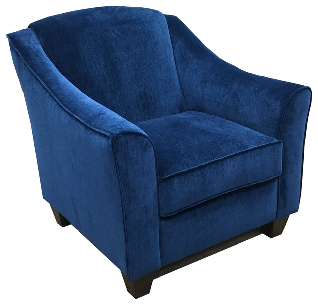 Simmons Upholstery Venice Sapphire Accent Chair