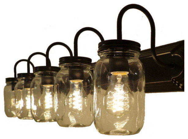 Vanity Lights Mason Jars : Mason Jar Vanity Fixture - Bathroom Vanity Lighting Houzz