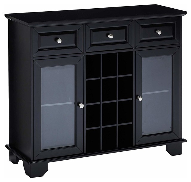 Quincy Sideboard With Wine Storage Black