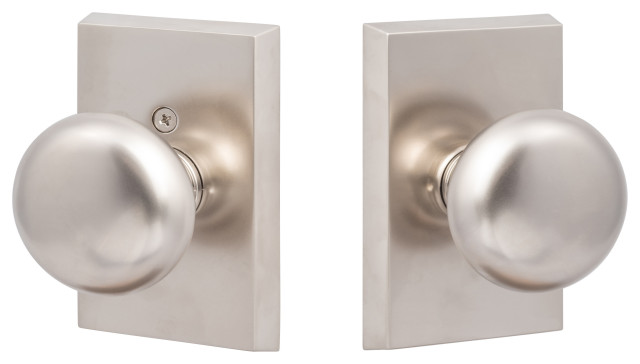 Ridgecrest Mountain Oakley Passage Door Knob With Square Rosette Transitional Doorknobs By Sure Loc Hardware Inc