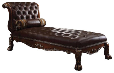 Dresden Cherry Oak Finish Chaise With Pillow victorian-indoor-chaise-lounge -chairs  sc 1 st  Houzz : chaise lounge victorian - Sectionals, Sofas & Couches
