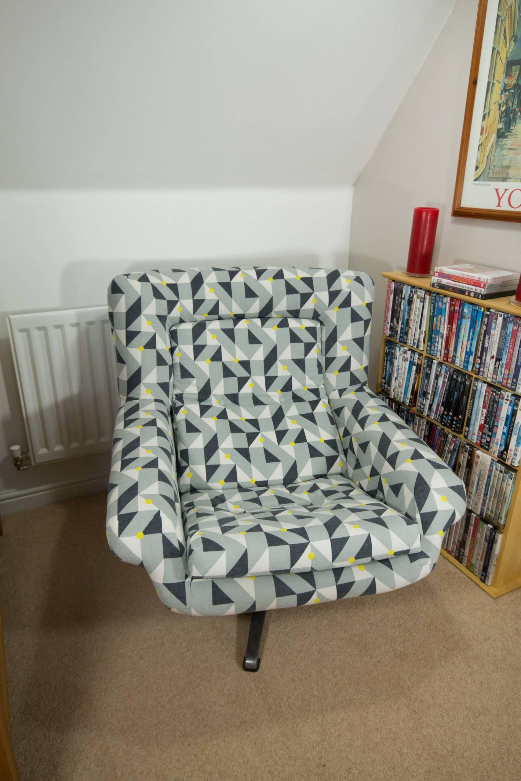 Restoration of 60's swivel chair