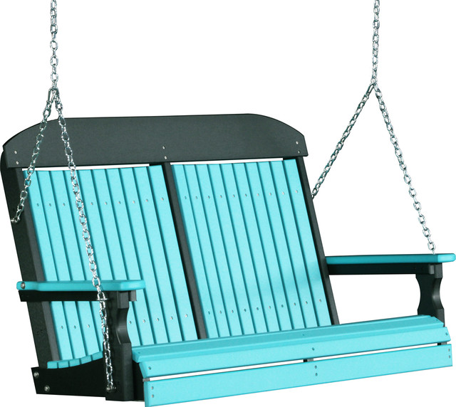 4 39 high back poly porch swing modern porch swings by