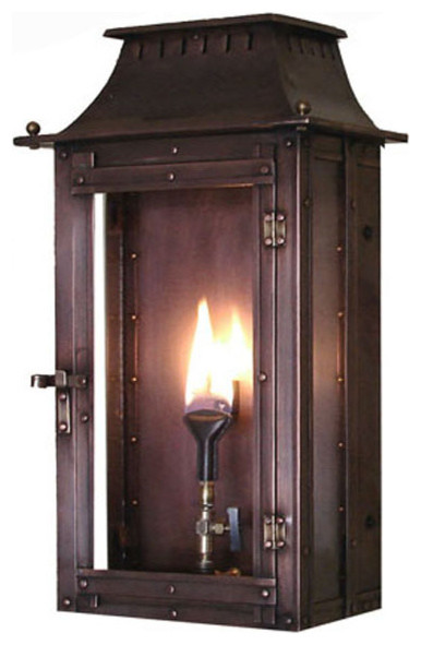 outdoor gas light fixtures outside williamsburg copper gas lanterns 16 lanterns industrial outdoor wall lights