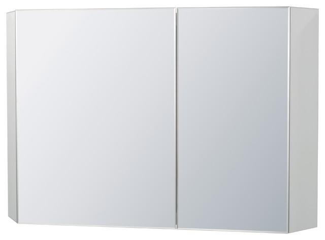 "Ronbow Signature Series 41"" Brit Led Mirror Cabinet, Bristol Beige, Left Door."